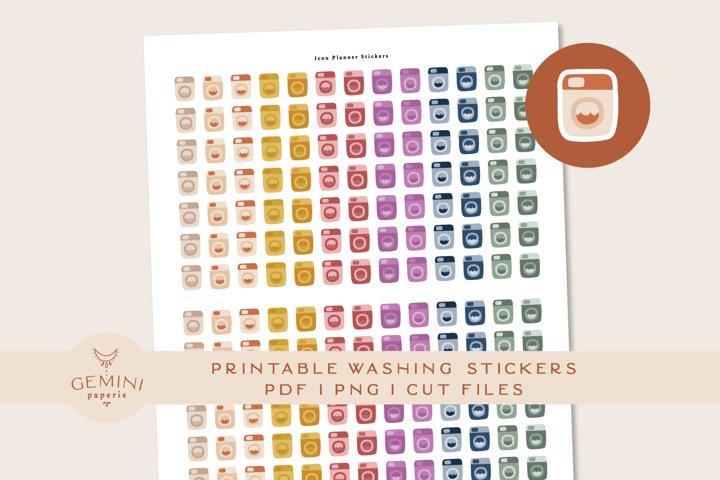 Washing Icon printable Stickers