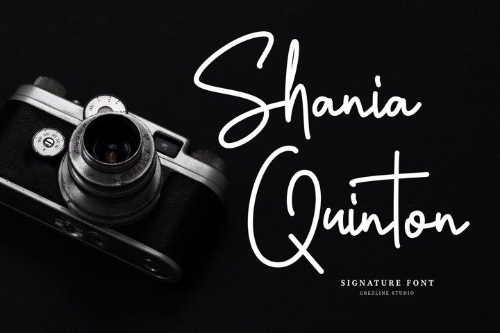 Shania Quinton Font