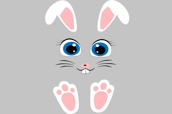 Easter bunny face svg, Rabbit face svg, Easter svg, Easter d