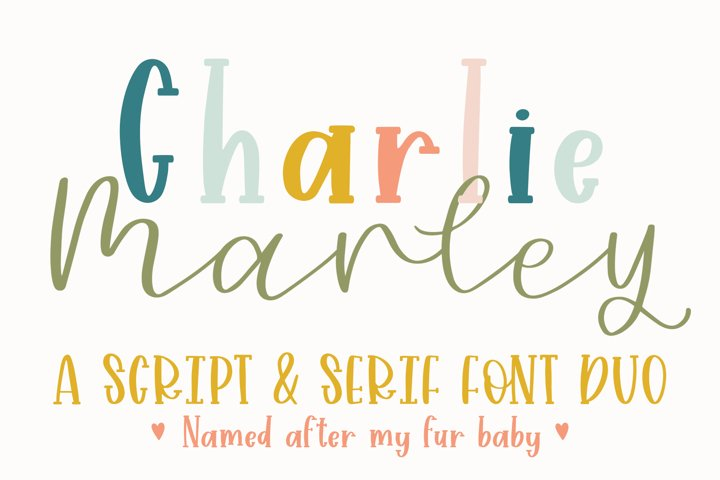 Charlie Marley, Serif and Script Font Duo