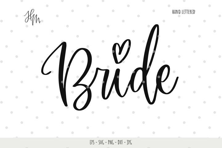 Bride cut file SVG DXF EPS PNG JPG