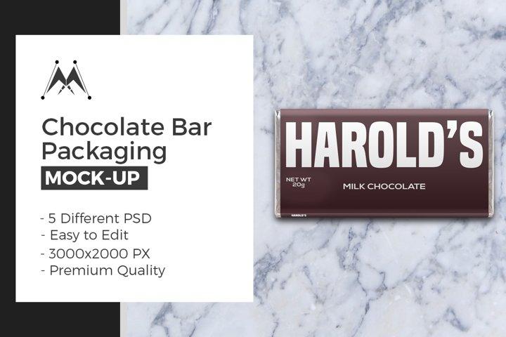 Chocolate Bar Packaging Mockups