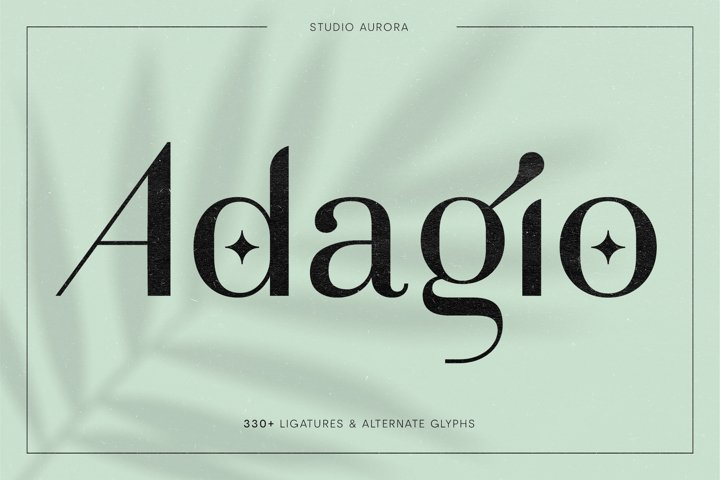Adagio Decorative Ligature Font Duo