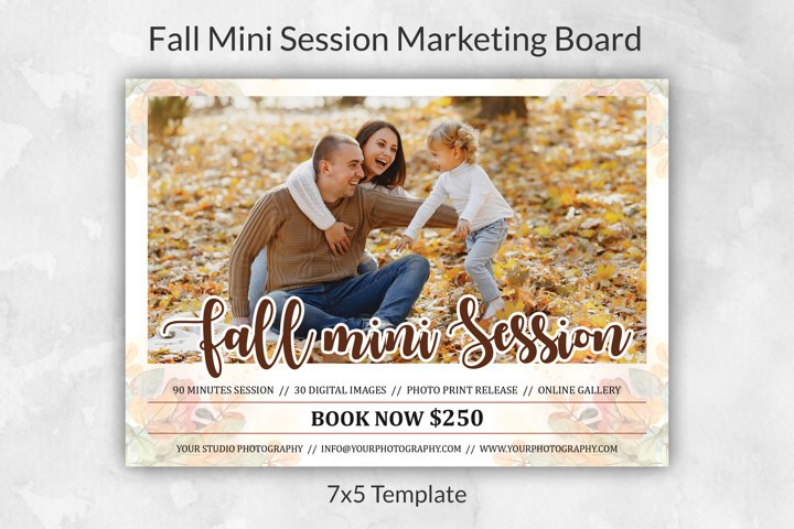 Fall Mini Session Template | Autumn Mini Session Template