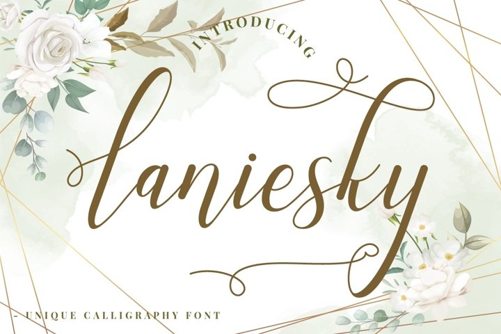 Laniesky - Calligraphy Font
