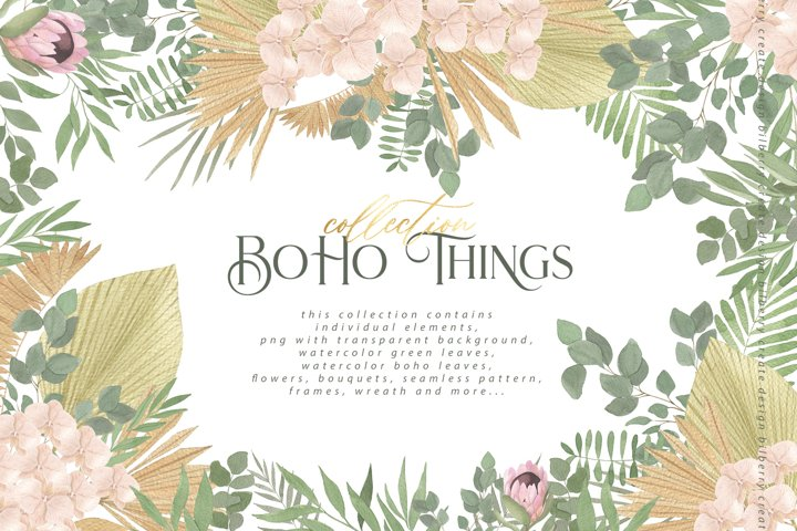 Boho things art collection