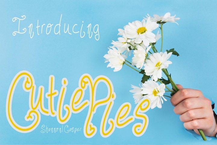 Cutie Pies Fun Handwritten Font