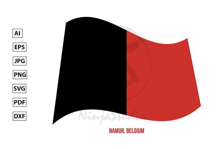 Namur Flag Waving Vector. Provinces Flags of Belgium