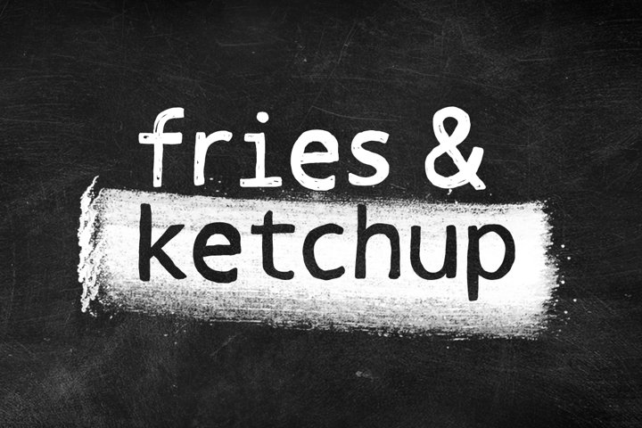 Fries & Ketchup Hand Drawn Font