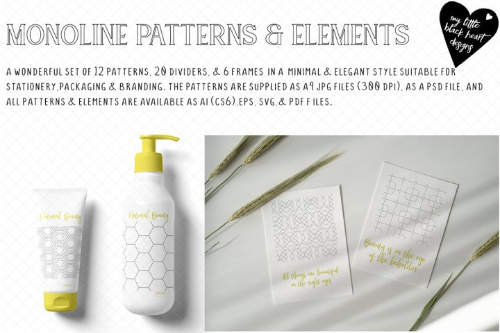 Monoline Patterns and Elements