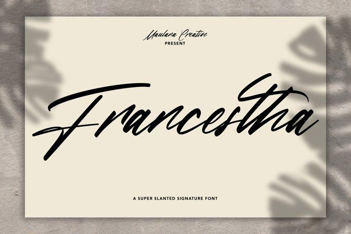 Francestha Super Slanted Signature Font
