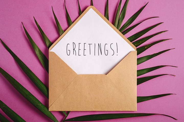Kraft brown paper envelope mockup