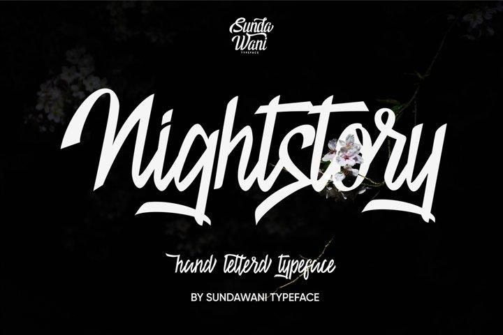 Nightstory Typeface 40% 0ff
