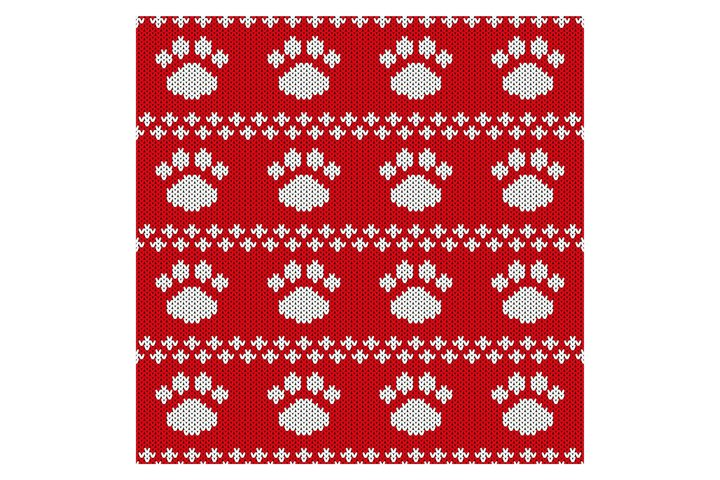 Christmas or New year knitted pattern.