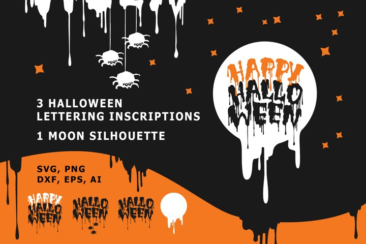 HALLOWEEN BUNDLE TEXT SVG in scary fonts and blood letters