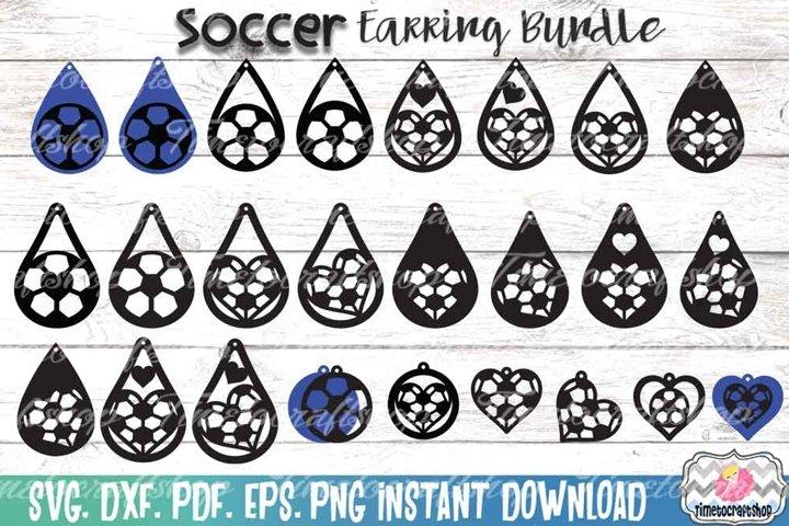 Sport Soccer Earring Template Bundle