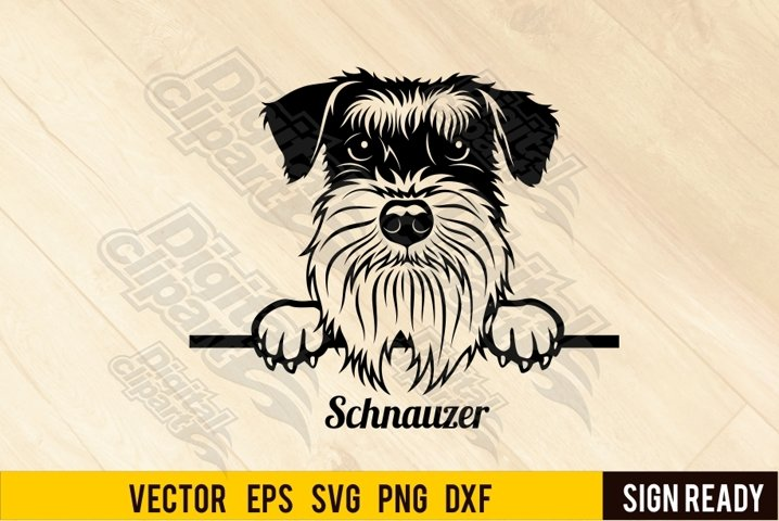 Peeking Schnauzer DOG SVG Ready Cut