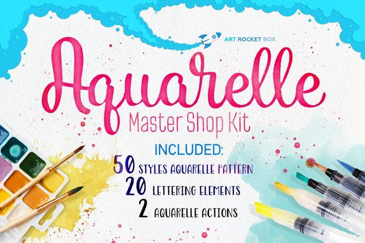 Aquarelle Master Shop Photoshop Action Kit