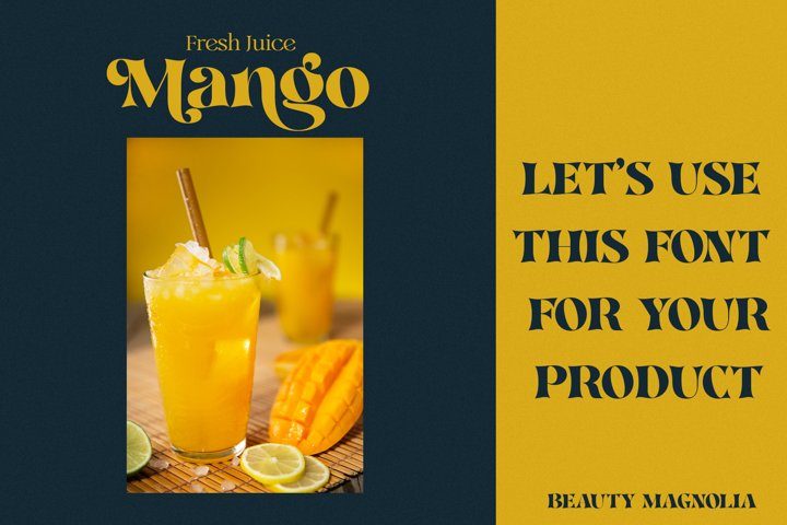 Beauty Magnolia - Display Font - Free Font Of The Week Design11