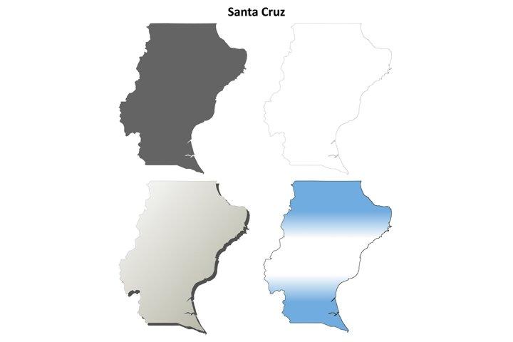 Santa Cruz blank outline map set