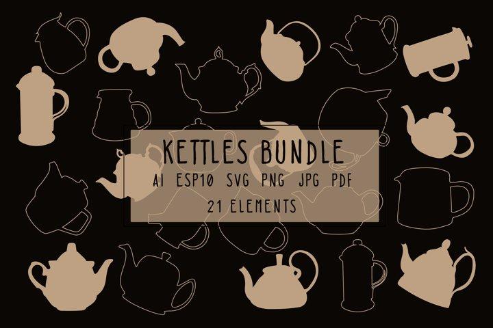 Kettles outline bundle