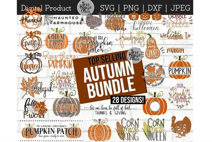 Fall SVG Bundle, Autumn Cut File Bundle, Farmhouse Fall JPEG