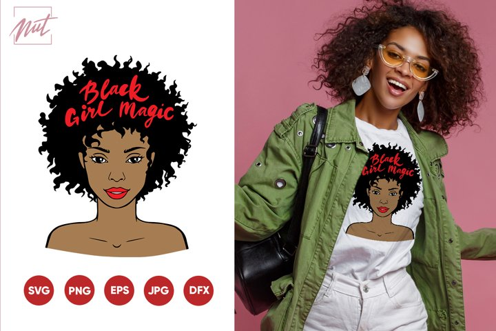 Black girl magic, black girl face svg, sublimation ready