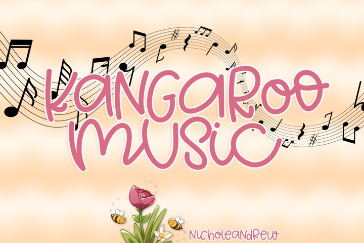 Kangaroo Music - A Fun Mixed Case Font