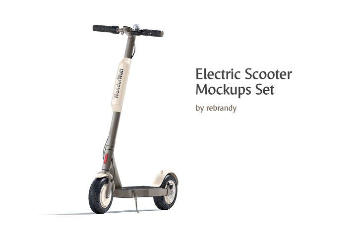 Electric Scooter Mockups Set