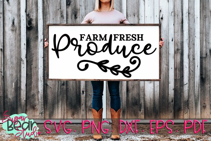 Farm Fresh Produce - A Quote SVG