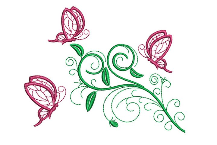 Butterfly and floral Vol.2 machine embroidery designs