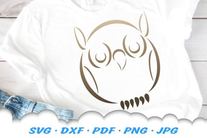 Tribal Owl SVG DXF Cut Files