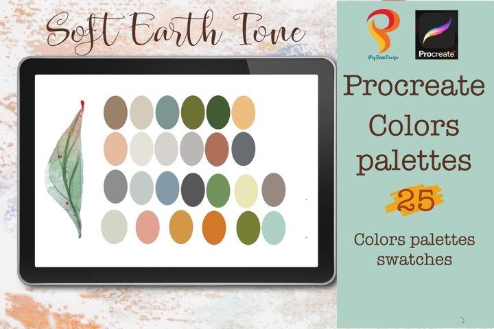 Procreate color palettes| Soft Earth Tone palettes |