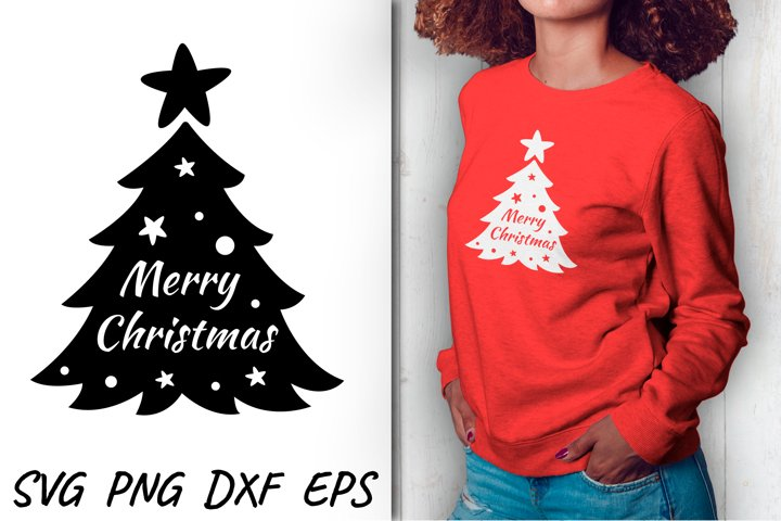 Christmas tree design SVG