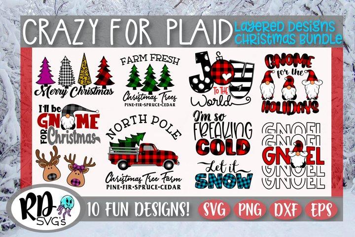 Crazy for Plaid - A Layered Plaid Christmas Bundle