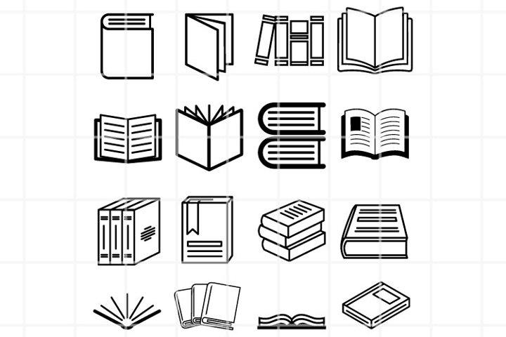 Books SVG. Literature set for cut. Study cutting files.