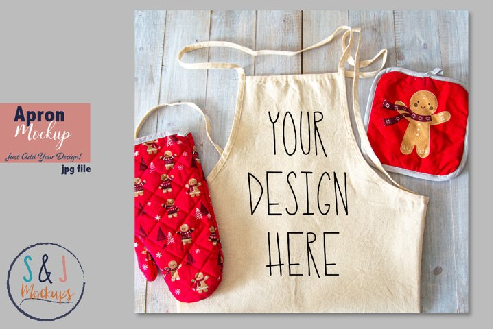 Christmas Apron mockup, holiday apron, design mockup