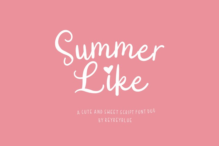 Summer Like Font Duo