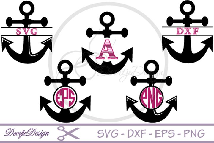Anchor Monogram SVG files