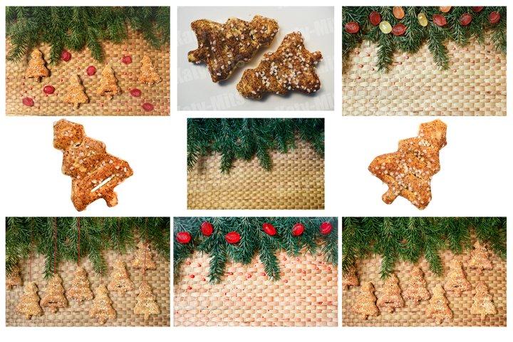 Set of 9 photos of Christmas