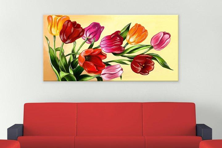 Tulips digital painting example 4