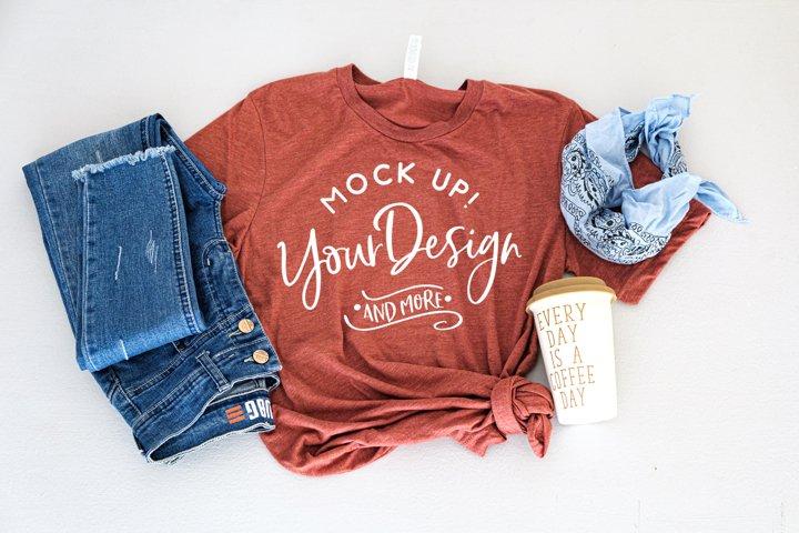 Shirt Mockup - Bella Canvas 3413 Clay Triblend