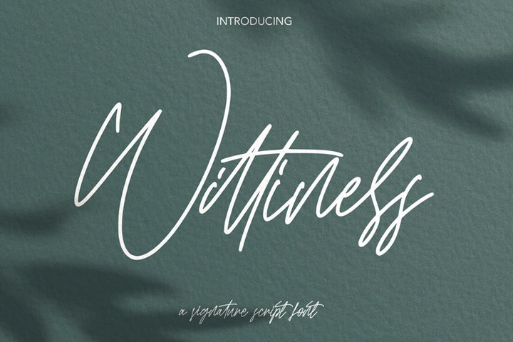 Wittiness - Signature Script Font