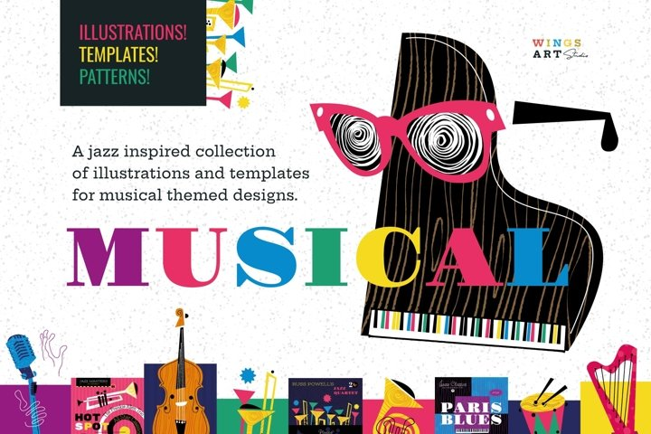 Musical Instrument Illustrations and Templates