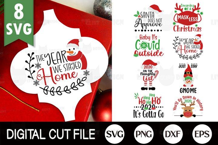 2020, Christmas Ornament SVG Bundle, Arabesque Tile SVG