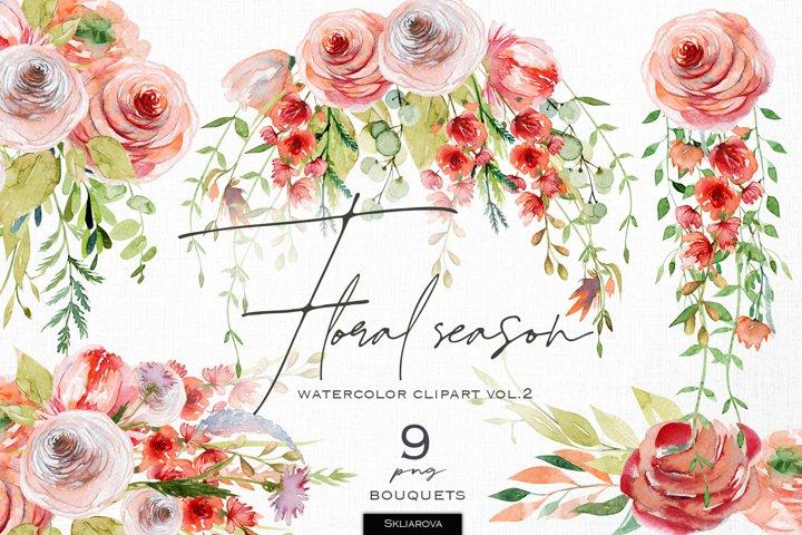 Floral season. Bouquets set, vol.2.