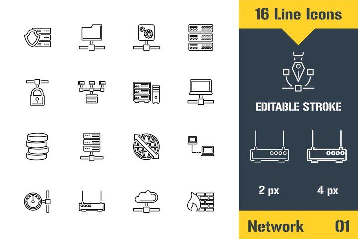 Network, Hosting Server Icons