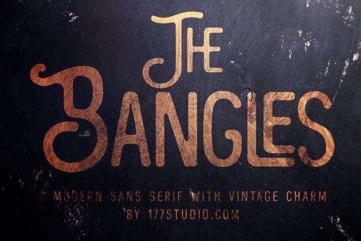 The Bangles - Vintage Sans Serif Font