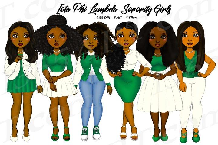 Iota Phi Lambda Sorority Girls Clipart African Natural Hair