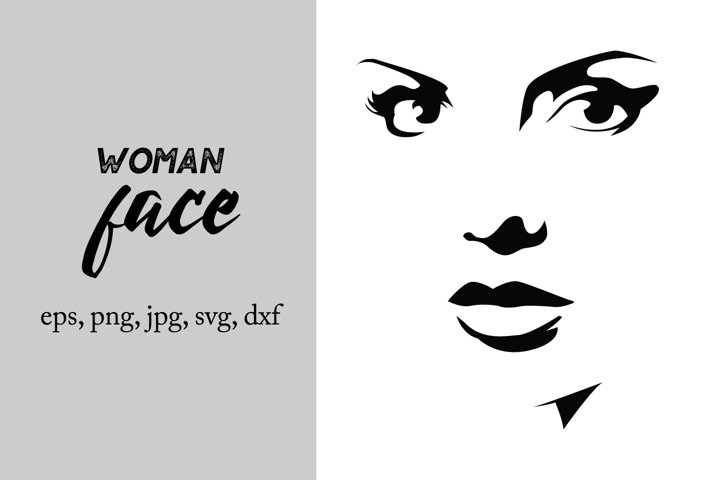 Woman face silhouette svg, woman cut file